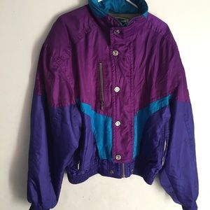 Phenix Vintage Purple Color Block Ski Jacket